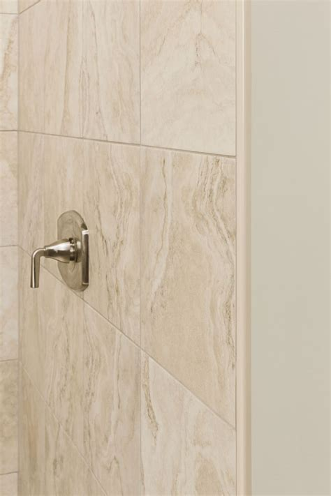 Bathroom Tile Trim Ideas by Trim With Beautifully Beige Schluter Real Estate