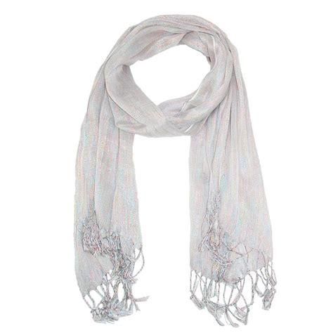 womens multi color metallic shawl scarf by ctm