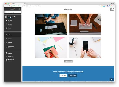 templates for database website database template bootstrap portfolio web template