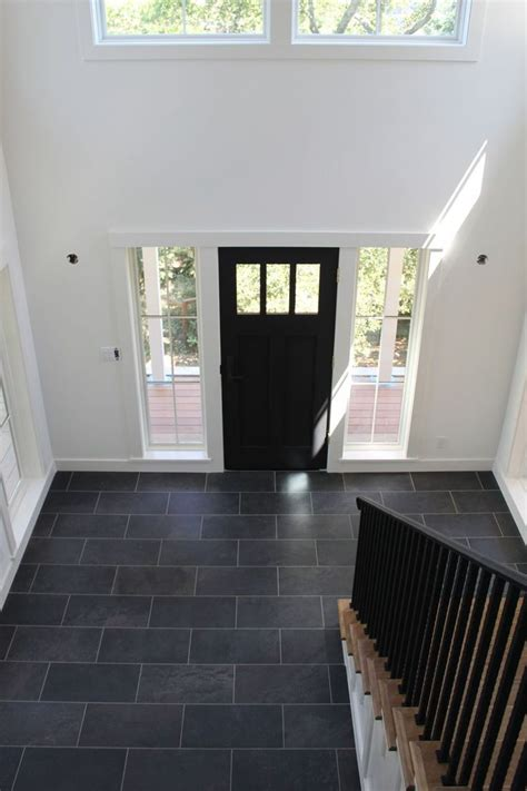 direction   run  tile flooring