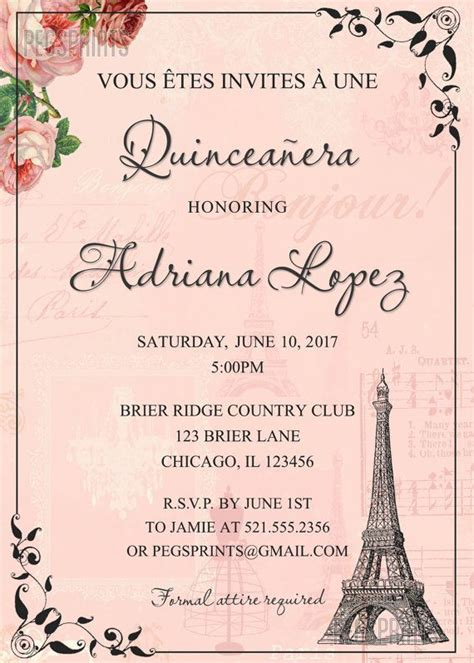 printable invitations for quinceanera 17 best ideas about sweet 15 invitations on pinterest
