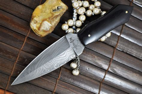 handmade kitchen knives for sale big sale handmade damascus hunting knife double edge
