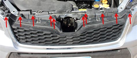 subaru forester grill how to remove the grille on a 2014 or newer subaru forester