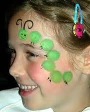 Printable Cheek Art Designs simple bug face paint body art pinterest