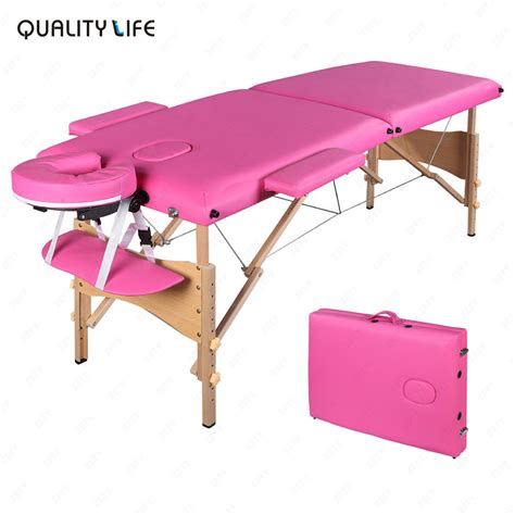 Pink Table L 84 Quot L Pink Fold Portable Table Spa Bed Carry Ebay