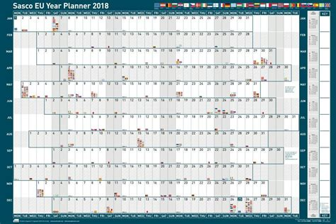 daily planner 2018 yearly wall planner agenda template sasco mounted eu year planner 2018 sasco planners
