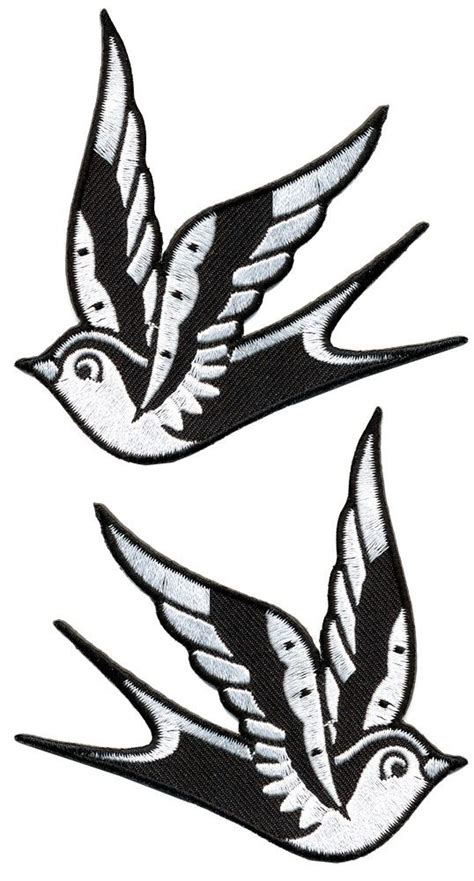 black and white swallow tattoo designs sparrows and jackets on