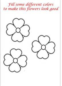 Small Flower Coloring Pages flower coloring printable page for