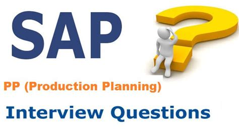 sap production planning pp questions and