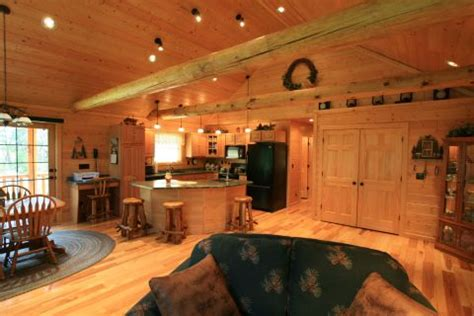open floor plan cabins golden eagle log and timber homes design ideas great rooms