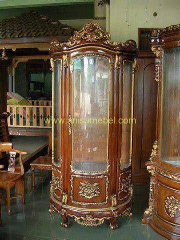 Bufet Lemari Pajangan Setengah Lingkaran lemari hias setengah lingkaran anisa mebel jepara pilihan furniture berkualitas