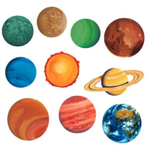 piece solar system cut outs