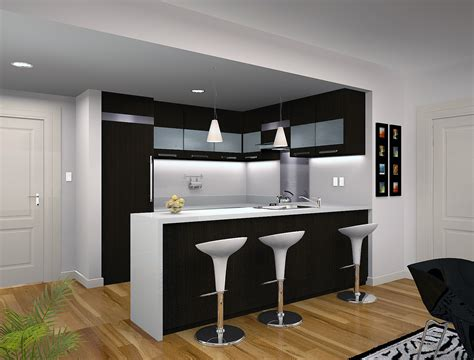 modern kitchen for small condo with condo kitchen