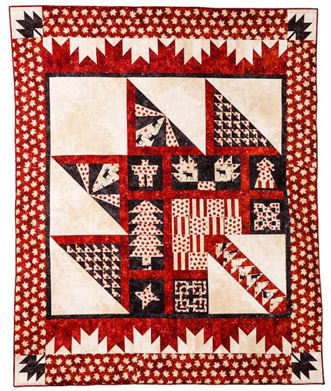 Canada Quilt by Pattern Feature Purely Canadian Quilt Quilts By Jen