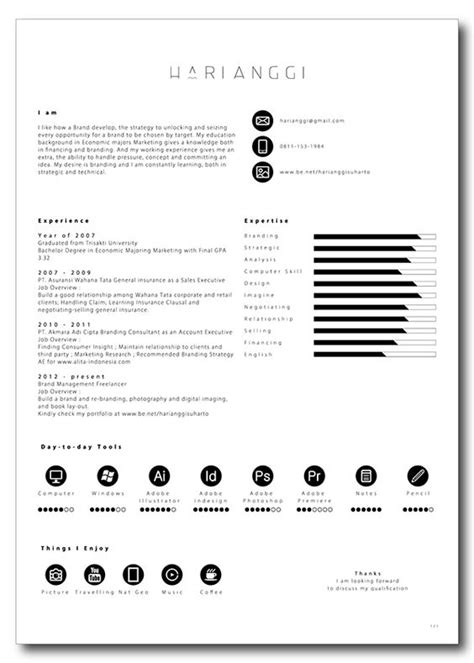 Well Designed Resumes by Simple Yet Well Designed Resume Design By Hari Anggi