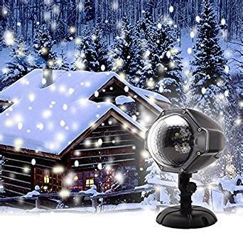 gaxmi projector light led snow falling lights white snowflake flurries rotating