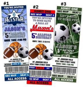 sports ticket invitation template 17 best ideas about football invitations on
