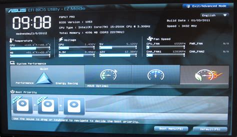 Phim Boot Menu Laptop Asus asus p8p67 pro uefi overclocking the battle of the p67 boards asus vs gigabyte at 190