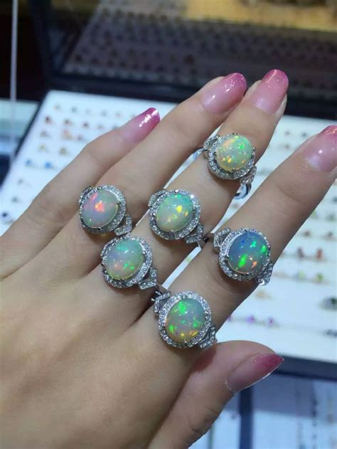 natural gemstone rings sterling silver natural transparent opal ring natural gemstone ring s925
