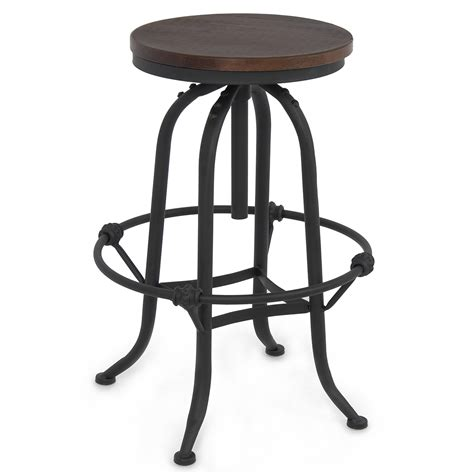 rustic bar stools swivel rustic bar stool home adjustable seat height countertop