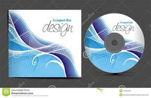 cd cover design stock vector image of curve illustration