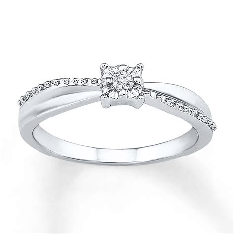 promise ring accent sterling silver where to