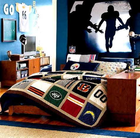 Boys Room Decorating Ideas Football Room Decorating Decorate Boys Bedroom