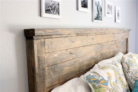 wooden king headboard ana white reclaimed wood headboard cal king diy projects