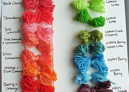 kool aid color chart kool aid yarn color chart kool aid dye yarn colors and