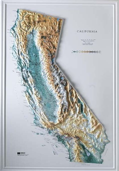 california map relief topographic maps california for sale raised relief maps
