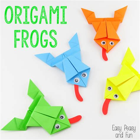 How To Make A Paper For - free coloring pages origami frogs tutorial origami for