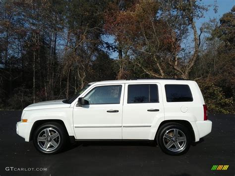 white jeep patriot 2008 2008 stone white clearcoat jeep patriot limited 117041507