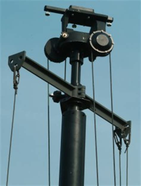 telescopic antenna mast positioner manual antenna positioner