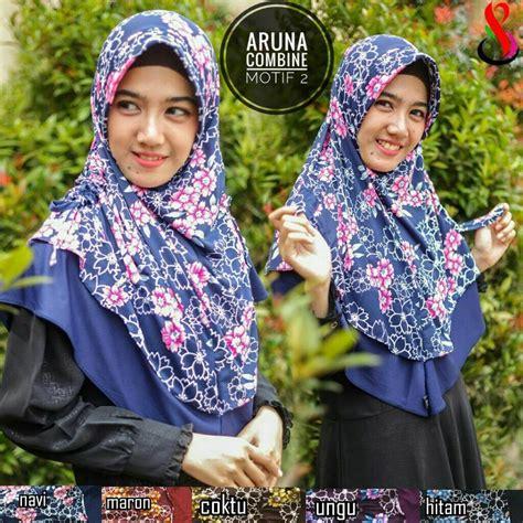Kerudung Jilbab Instan Serut Amanda Motif jilbab aruna combine serut sentral grosir jilbab kerudung i supplier jilbab i retail