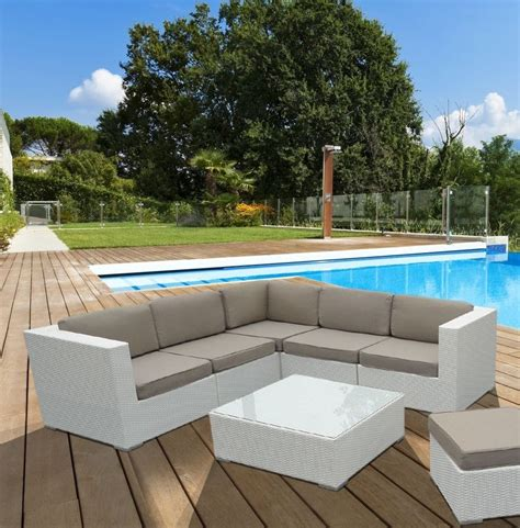 affordable discount cheap modern all weather white rattan