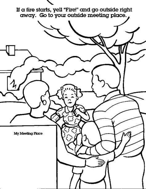free fire safety coloring pages coloring home