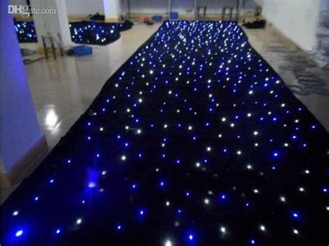 Shiny Blue White Color LED Star Curtain Wedding Stage