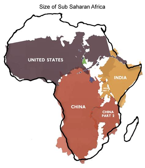 africa map vs usa despite some discouraging headlines things in africa are