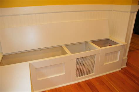 diy kitchen bench with storage diy custom kitchen nook storage benches
