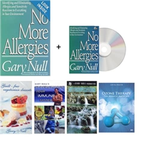 Gary Null Detox by Gary Null S No More Allergies Package Book 5 Dvd S