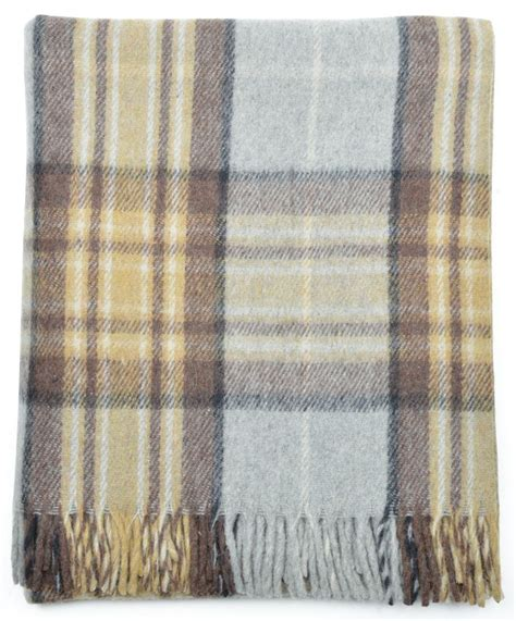 new scottish wool tartan blanket throw rug gift