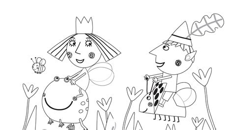 princess holly coloring page ben and holly coloring pages