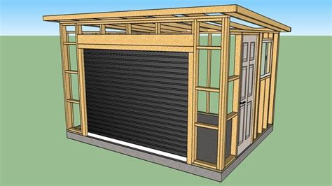 wood shed roll  door shed roof wood shed shed