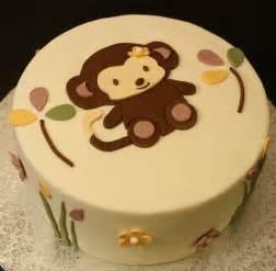 Monkey baby shower cakes monkey baby shower cake 89238 600x588 jpg