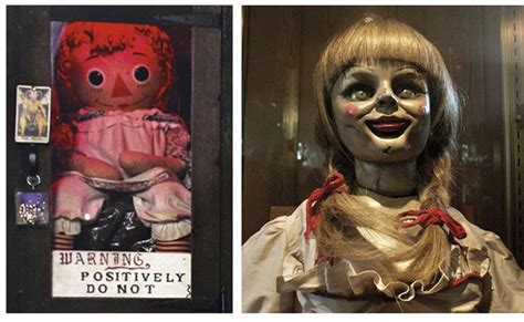 the annabelle doll story real creepy haunted annabelle doll from the conjuring is a