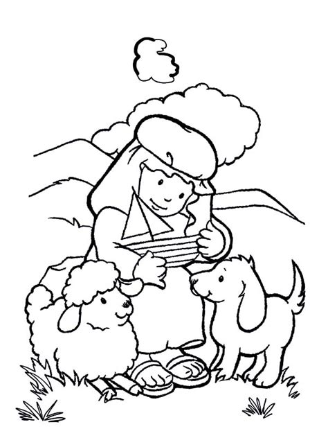 David The Shepherd Coloring Page