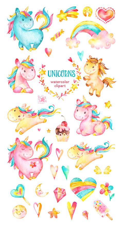 clipart cuori unicorni clipart dell acquerello arcobaleno cuori