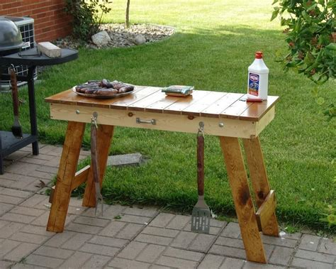 weber grill table plans bbq side table plans pit design ideas