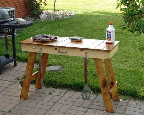 Bbq side table plans fire pit design ideas
