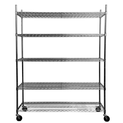 5 tier heavy duty wire 60 in x 24 in x 72 in